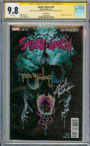 Spider-Gwen #18 Venomized Variant CGC 9.8 Signature Series Signed McFarlane Michelin Venom Marvel